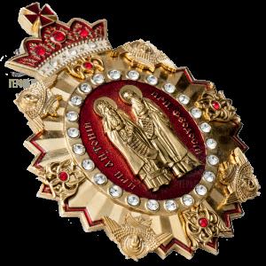 Фото Нагрудний знак «прп. Антоній та прп. Феодосій»