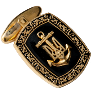 "Фото Cufflinks ""Naval Forces of Ukraine"""