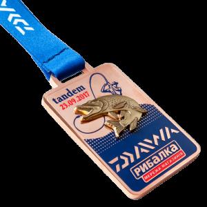 Фото Медаль «Daiwa tandem-медь»