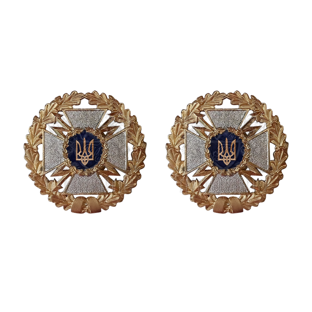 Photo Collar emblem for State Service for Special Communications and Information Protection 2 pcs.