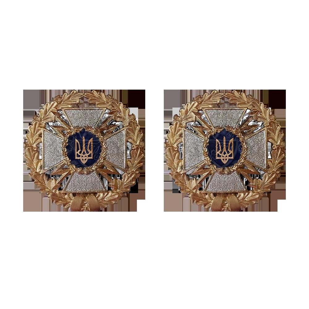 Фото Эмблема на воротник Государственной службы специальной связи и защиты информации 2 шт.