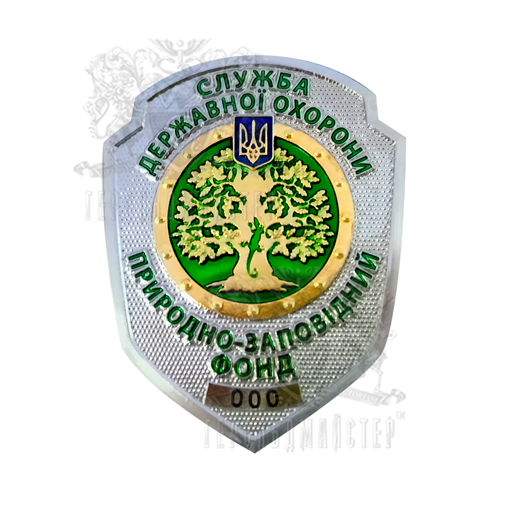 Photo Badge of the state security service of the NWF