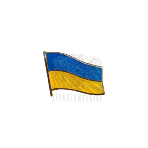 "Фото Badge ""Flag of Ukraine"", polished enamel, gilding"