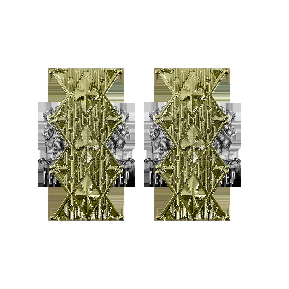 Фото Емблема на комір для вищого офіцерського складу 2 шт.