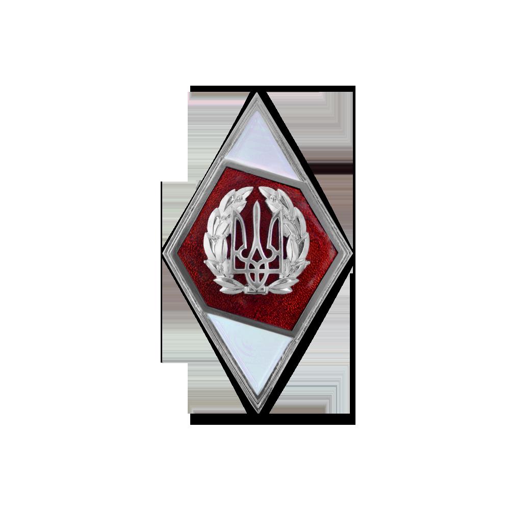 Фото Нагрудний знак (Ромб) про закінчення «Національного університету оборони України імені Івана Черняховського» (тактичний рівень)